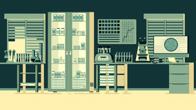 Medical Laboratory Illustration royalty free illustration