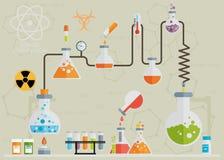Medical laboratory infographics Royalty Free Stock Image