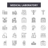Medical laboratory line icons, signs, vector set, outline illustration concept. Medical laboratory line icons, signs, vector set, outline concept illustration royalty free illustration