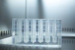 Medical laboratory test tubes platelet rich blood plasma PRP Stock Photo