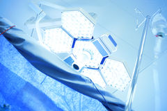 Medical lamps in the operating room. Light of medical lamps in the operating room Stock Images