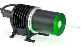 Medical laser equipment. On white background with green beam Royalty Free Stock Photos