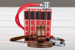 Medical law Stock Image