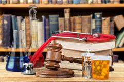 Medical. Legal rights closeup chemistry tubes law Royalty Free Stock Image