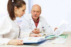 Medical lesson stock image