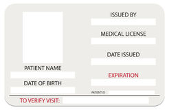 Medical License Card Royalty Free Stock Photography