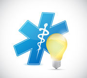 Medical light bulb illustration design Royalty Free Stock Photography