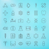Medical Line Health Care Icons Set Royalty Free Stock Photos