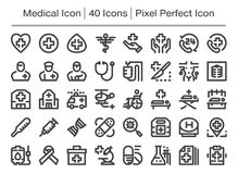 Medical icon. Medical line icon,editable stroke Stock Image