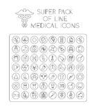 Medical line icon pack Royalty Free Stock Images