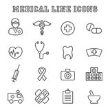 Medical line icons Royalty Free Stock Photography