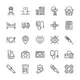 Medical line icons. Vector elements Stock Image