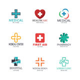 Medical logo design Stock Image