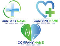 Medical logo. An illustration with different medical logos, pharmaceutical Stock Image