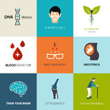 Medical Logo Set Royalty Free Stock Images
