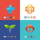 Medical Logo Set Stock Photo