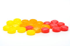Medical lozenges for relief cough, sore throat and throat irritation Royalty Free Stock Images