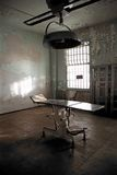 Medical Madness. Surgery bed in Medical Room in Alcatraz Royalty Free Stock Images