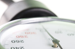Medical manometer closeup Royalty Free Stock Photo