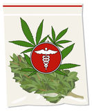 Medical marijuana bag Royalty Free Stock Image