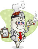 Medical Marijuana Doctor Cartoon Royalty Free Stock Photography