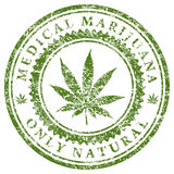 Medical Marijuana. Illustration of marijuana leaf as a symbol of medical marijuana Stock Images