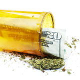 Medical Marijuana and Money Stock Image