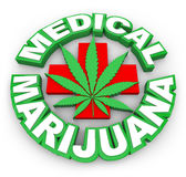 Medical Marijuana Plus Sign Leaf Words Advertise Selling Pot Med Royalty Free Stock Image