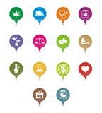 Medical marijuana pointer Royalty Free Stock Image
