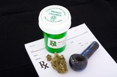 Medical marijuana prescription Stock Image