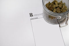 Medical marijuana prescription Royalty Free Stock Images