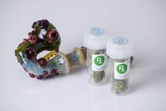 Medical marijuana prescription Royalty Free Stock Photos