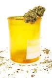 Medical Marijuana, Prescription Rx Pill Bottle and Cannabis Royalty Free Stock Image