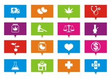 Medical marijuana rectangle pointers. Suitable for user interface Royalty Free Stock Photo