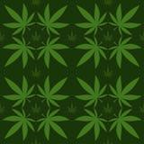 Medical marijuana, seamless pattern, gift wrapping paper vector illustration