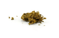 Medical marijuana  on white background. Therapeutic and Royalty Free Stock Image