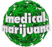 Medical Marijuana Words Leaves Legal Pharmacy Stock Photo