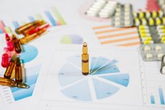 Medical marketing and Health care business analysis report. Medical marketing concept royalty free stock photo