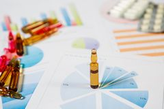 Medical marketing and Health care business analysis report. Medical marketing concept stock photography