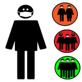 Medical mask icon. Epidemic. Vector Illustration. Royalty Free Stock Photos