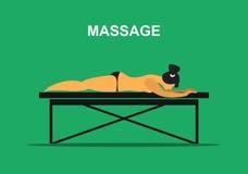 Medical massage procedure Royalty Free Stock Photo