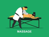 Medical massage procedure Stock Photos