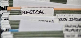 Medical Insurance Files and Records royalty free stock photo