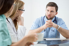 Medical meeting in hospital Stock Image