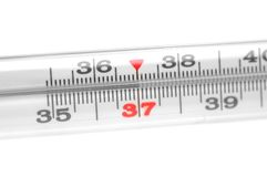 Medical mercury thermometer Royalty Free Stock Image