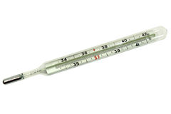 Medical mercury thermometer Royalty Free Stock Images