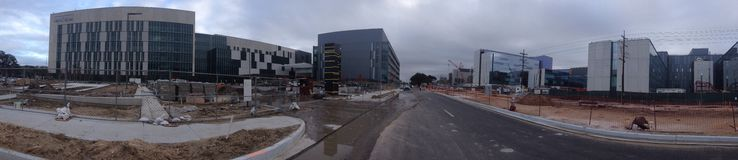 Medical Meyhem. The current construction site of the new New Orleans medical center district stock image