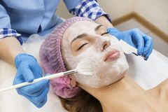 Medical micro needle therapy with a modern medical instrument derma roller. Stock Photo