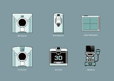 Medical modality icon sets Royalty Free Stock Images