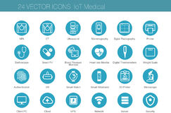 Medical modality icon sets stock illustration